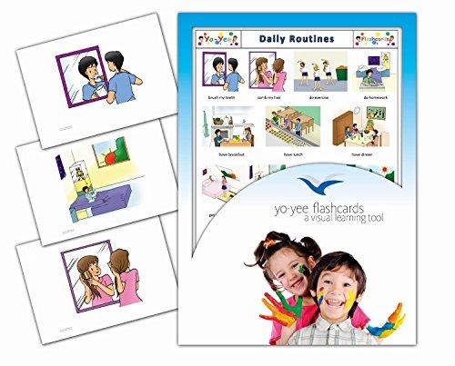 Tarjetas con ilustraciones en inglés - Rutina diaria - a modo de juego, amplían el vocabulario básico, la construcción de frases y la gramática: para guarderías, escuelas de primaria o logopedia