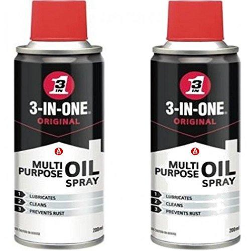 3 in 1 Aerosol Spray 2 Can Oil by WD40 Multi Purpose Penetrant Lubricant 44006