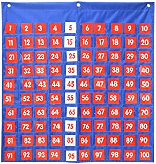 Hundreds Pocket Chart,Numbers 1-100 Chart,Large Visual Aid for The Home and Classroom