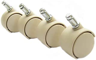 Chromcraft Casters in Almond / Sand (Set of 16)
