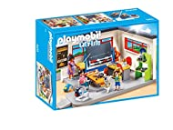 Explore the everyday: PLAYMOBIL singing lessons classroom with three figurines and many accessories for accurate role-play Pivoting and blackboard you can write on with slide rule, shelf, desk, school desks, etc., can be combined with PLAYMOBIL City ...