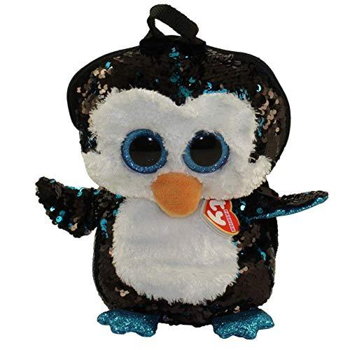 Ty Unisex Kinder Waddles Penguin Rucksack, Mehrfarbig, One Size