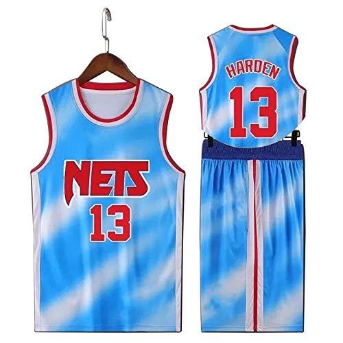 QJJ James Harden - Camiseta de baloncesto para hombre, 13 # Brooklyn Nets Fans Swingman Jersey, bordado sin mangas, camiseta de malla transpirable, chaleco deportivo de poliéster XXL