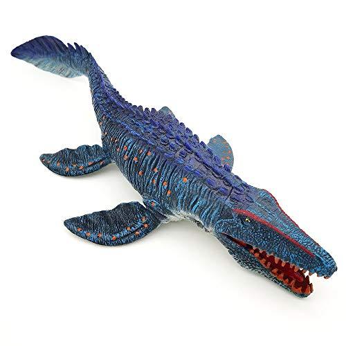 Jurassic World Mosasaurus Dinosaur Toy 13.4'', Realistic Dinosaur Toy Figures, Dinosaur Figurine, Large Deep Sea Creature Plastic Hand-Painted Ocean Animal Model Playset for Bath Pool Toy, Cake Topper