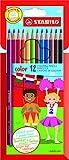 STABILO Lápices - Estuche con 12 colores