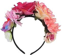 greatown Blumenkranz Für Mädchen Blume Krone Stirnband Party Dekoration Kopfschmuck Künstliche Frauen Stirnband Garland Kostüm