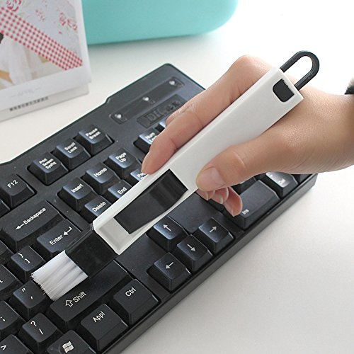 2pcs teclado limpiador de esquina con un recogedor cepillo brecha tijera de cocina puertas y ventanas Groove limpieza herramientas