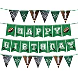 4PCS Football Party Supplies Birthday Banner - Sports/Football Themed First Birthday Party Decorations Favors