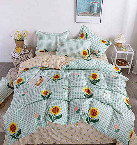 NKJSANFOI Simple Style Home Textile Sanding Quilt Cover Soft Skin-Friendly Oversized Four-Piece Bedding Comforter Bedding Sets