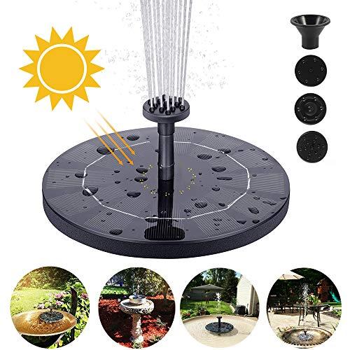 everso Solar Springbrunnen Freistehende Schwimmende Solar Wasserpumpe Vogelbad Springbrunnen Solar Brunnen Outdoor für Gartenteich Oder Springbrunnen...