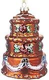 Brubaker Torte Bunt- Handbemalte Weihnachtskugel aus Glas - Mundgeblasener Christbaumschmuck Figuren lustig Deko Anhänger Baumkugel - ca. 11 cm
