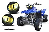 AMR Racing ATV Headlight Eye Graphics Decal Cover Compatible with Yamaha Warrior 350 All Years - Eclipse Yellow