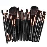 Keepwin 22 Pcs Maquillage Pinceaux Ensemble Complet Poudre Fondation Fard À Paupières Eyeliner Lèvres Brosse Cosmétique (F)