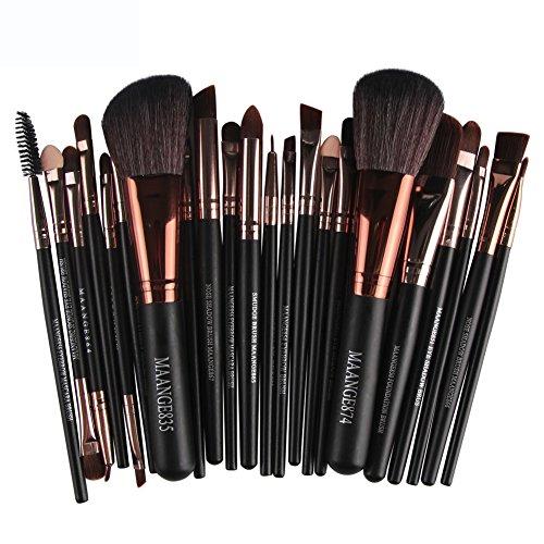 Lot de 22 Pinceaux Maquillages Premium WINJIN Brosses de maquillage Ensemble de pinceaux maquillage Professionnels Cosmétique Brosse Maquillage Outils pour Rougir,Poudre,Les sourcils,Correcteur