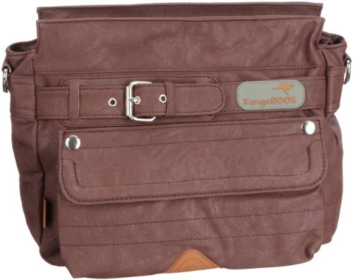 KangaROOS Jean Stone Bag (Set) B0176/326, Damen Umhängetaschen, Braun (Chestnut 326), 23x30x12 cm (B x H x T)