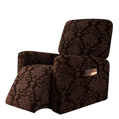 CLGTY Elasticizzato Copripoltrona Relax, Maglieria Jacquard Spandex Fodera per Poltrona Morbido Antiscivolo Lavabile Sofa Protettore per Bambini Animali-caffè-reclinabile