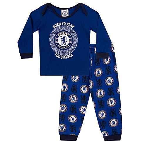Chelsea FC - Jungen Schlafanzug - Offizielles Merchandise - Geschenk für Fußballfans - 3-6 Monate