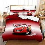 Probuk Juego de ropa de cama de Disney Pixar, suave y cómoda, funda de almohada, 100% microfibra, funda nórdica + funda de almohada, para niños, decoración de dormitorio (03,220 x 260 cm (50 x 75 cm)