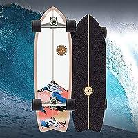 MQJ Street Surfingスケートボードポンプサーフスケートロングボードの完全な子供の木製の巡洋艦のメープルウッド7層、初心者の10代、大人のためのc4トラックプロのサーフボード