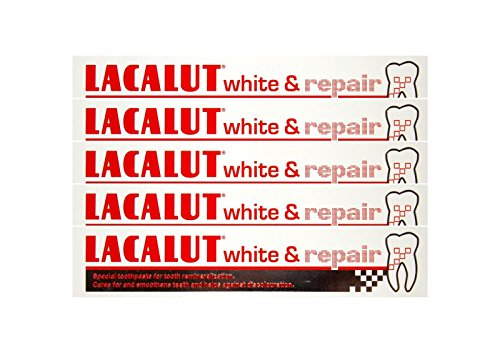 5x LACALUT white & repair Zahncreme 75 ml PZN: 04387912 Spezialzahncreme Zahnpasta
