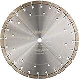 LXDIAMOND Diamant-Trennscheibe 350mm x 20,0mm PREMIUM Hartgestein Diamantscheibe für Klinker Beton Mauerwerk Stahlbeton Granit für Trennjäger, Steintrennmaschine, Fugenschneider 350 mm