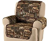 Innovative Textile Solutions, Microfiber Furniture Protector Recliner Wing Chair, Perfect Chair Protection, Comfortable Easy Stretch Fabric, Protect Against Spills and Stains (Lodge Pattern)