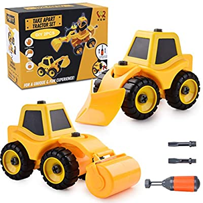 Take Apart Toys Construction Truck Take Apart Toy for Boys- Gift Toys for Boys 3,4,5,6,7 Year Olds,Kids Stem Building Toy,Truck Toys DIY Engineering Learning Educational Toy Vehicle