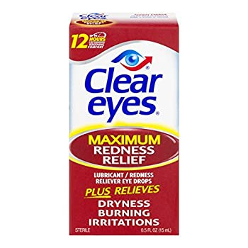 Clear Eyes Maximum Redness Relief Eye Drops - 0.5 oz Pack of 4