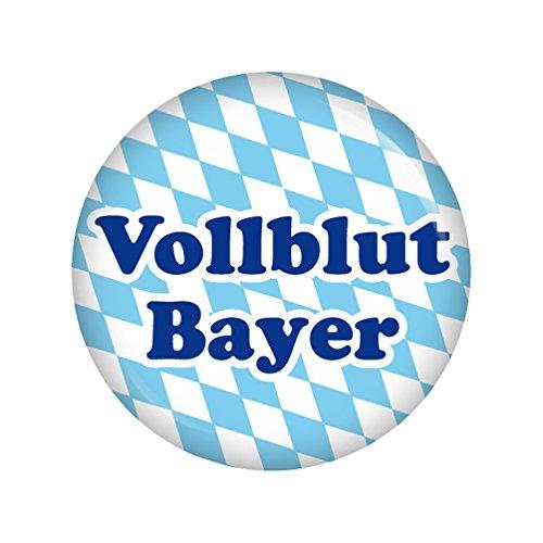 Kiwikatze® Regional - Vollblut Bayer 37mm Button Ansteckbutton Oktoberfest Wiesn Volksfest für Dirndl oder Lederhose Bayern