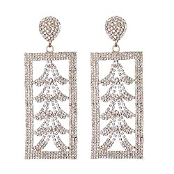C-Gold Crystal Drop Dangle Earrings