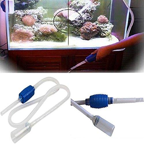 Aquarium Changement de l'eau nettoyeur de gravier Siphon Pompe à vide d'air filtre de Fish Tank propre pour tuyau Tube