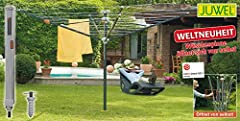 Bijou Araignée à linge Futura Elegant XXL (pour 5-6 charges de lavage, hauteur réglable 165-190 cm, ouvre automatiquement, y compris la douille de plancher d'un tour) 30319
