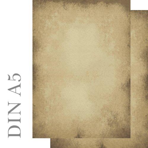 Briefpapier 100 Blatt Motivpapier altes Papier Vintage beidseitig bedruckt ACHTUNG: Format DIN A5 90 g/m² Ideenstadl 5603-A5