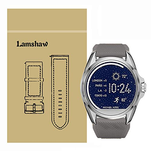 LvBu Armband Kompatibel Für Michael Kors Bradshaw, Sport Silikon Classic Ersatz Uhrenarmband Für Michael Kors Access Bradshaw Smartwatch (Grau)