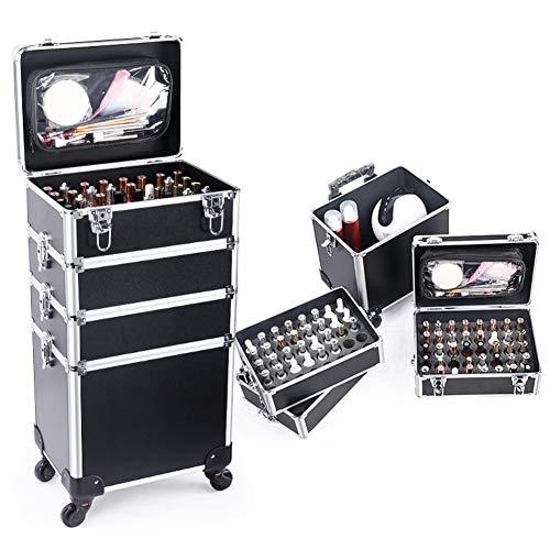 Maleta De Maquillaje Estuche Cosmetico Maletín Maquillaje Profesional Trolley Beauty Case Carro De Belleza De Viaje, Carro De Cosméticos Grande para Peluqueros