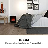 Klarstein Copenhagen - Elektrischer Kamin, Elektrokamin, 2 Heizstufen: 950 oder 1900 Watt, Flammenillusion auch ohne Heizen, Glasfront, Thermostat, Überhitzungsschutz, schwarz - 2