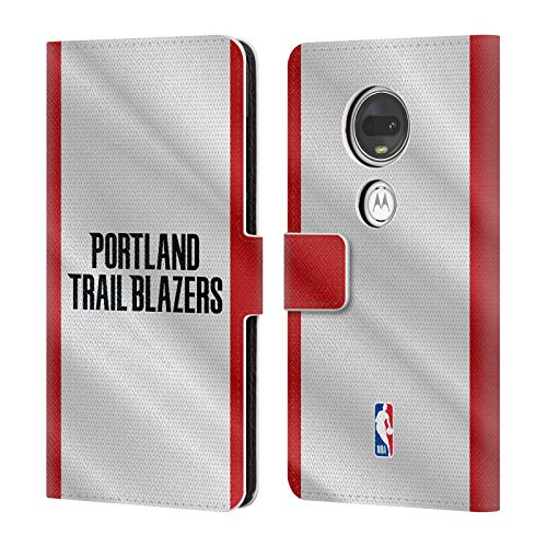 Official NBA Jersey Portland Trail Blazers Leather Book Wallet Case Cover Compatible For Motorola Moto G7 / G7 Plus