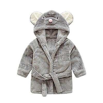 Y&L Kids Baby Warm Bathrobes Nightgown Pajamas Cartoon Hooded Sleepwear Housecoat