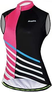 Aogda Cycling Vests Jerseys Women Bike Shirts Biking Sleeveless Clothing Ladies Bicycle Tights