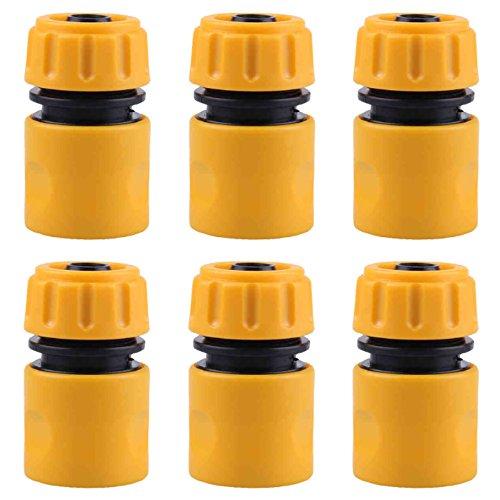 Tasquite - 6 Conectores de Manguera de 1,27 cm de Extremo rápido para Conector de Agua de jardín, Herramienta de jardín, riego de Plantas, Manguera de jardín y riego rápido