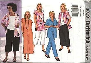 BUTTERICK PATTERNS B3039 Women`s/Women`s Petite Shirt, Top, Tunic, Dress, Skirt & Pants, Size 22W-24W-26W