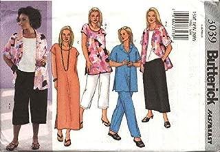 BUTTERICK PATTERNS B3039 Women's/Women's Petite Shirt, Top, Tunic, Dress, Skirt & Pants, Size 22W-24W-26W