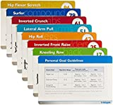 Total Gym Personal Workout Training Cards and Case with 80 Total Body Exercises and 30 Pre Designed...