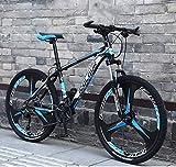 ZHTY Bicicleta de montaña de 26'y 24 velocidades para Adultos, Cuadro de suspensión Completa de Aluminio Ligero, Horquilla de suspensión, Bicicleta de montaña con Freno de Disco