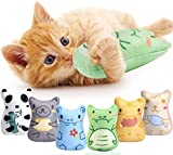 Mameld Catnip Toys for Indoor Cats - 6PCS Plush Cat Chew Toys for Kitty Teething Interactive Catnip Filled Kitten Toy Soft Pet Toys Set
