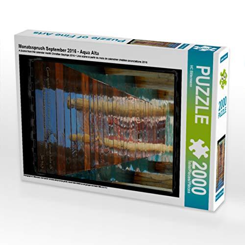CALVENDO Puzzle Monatsspruch September 2016 - Aqua Alta 2000 Teile Lege-Größe 67 x 90 cm Foto-Puzzle Bild von Photograph HC Bittermann