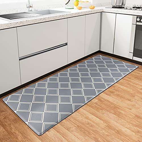 Kitsure Alfombra de cocina, impermeable y antideslizante, alfombra de cocina duradera para el suelo, alfombra de cocina y lavandería, alfombra de cocina resistente acolchada antifatiga, gris
