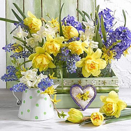 5d pivoine vase ensemble point de croix mosaïque fleur murale décoration de la maison à la main diamant peinture A1 60x80 cm