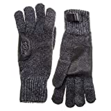 UGG® Leather Patch Hombre Guantes Gris One Size