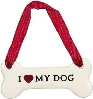 Grasslands Road Holiday Pets Biscuits Bone Ornament I Heart My Dog